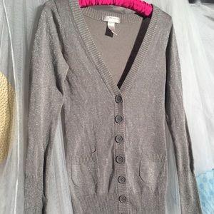 KENAR 100% Wool button up hip length Cardigan
